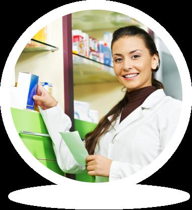 Lady pharmacist